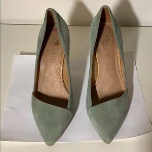 Madewell Mira Heel, Sea Green, size 6.5